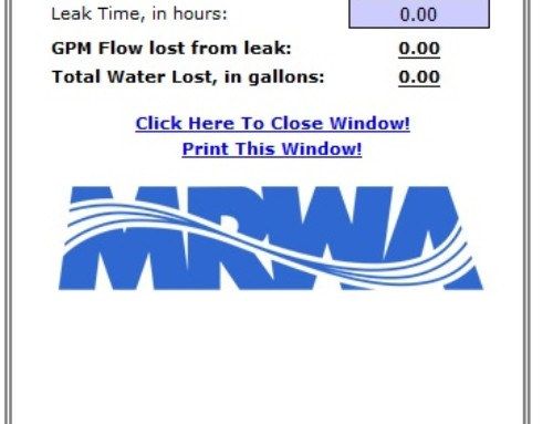 Water Loss Tracking Tools