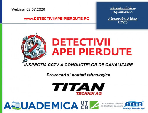 INSPECTIA CCTV A CONDUCTELOR DE CANALIZARE