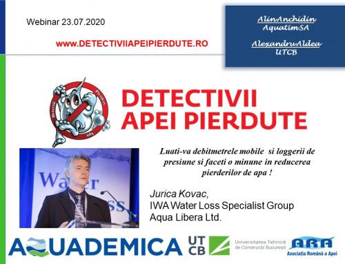 Jurica Kovac expert IWA WLSG water loss webinar