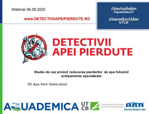 STUDIU DE CAZ PRIVIND REDUCEREA PIERDERILOR DE APA FOLOSIND ECHIPAMENTE SPECIALIZATE